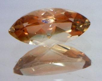 Red Orange Oregon Sunstone Precision Meet Point Faceted Marquise Gem 1.05 carat