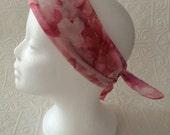 Pink floral print vintage scarf