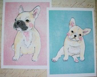PUG Art - dog Art - Adorable pugs - Watercolor Digital images - Set of 7 - See All Photos - Choice of Sizes -- PWA 09065
