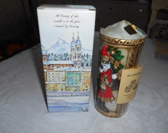 1986 Never Used Emperor Art Candle Santa Claus Handcrafted in Japan Designed in Austria