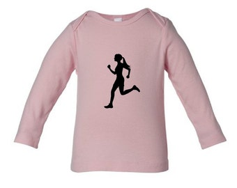 SALE - Infant pink long sleeve t-shirt any design