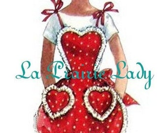Repro Vintage Full Apron 50's PDF Pattern No 25 Available in M-L-XL