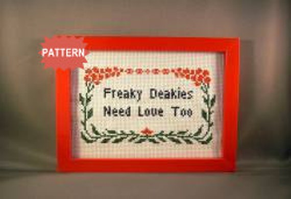 PDF/JPEG Freaky Deakies Need Love Too - 30 Rock (Pattern)