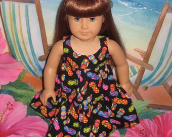 Carousal Dress & Bow Tie Slip On Shoes for American Girl Doll, from a Liberty Jane Doll Pattern