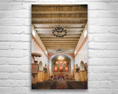 Mission Church, San Juan Bautista, California Spanish Missions, Church Art, Christian Art, Architecture Art, Fine Art Photography