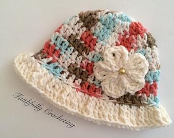 Newborn sun hat.. Photography prop.. Ready to ship