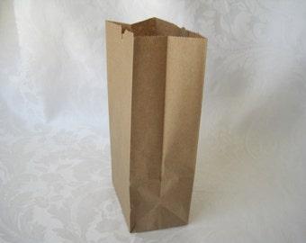 50 Paper Bags, Gift Bags, Kraft Paper Bags, Brown Paper Bags, Lunch Bags, Small Paper Bags, Party Favor Bags, Gusset Paper Bags 8x2.5x4