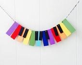Piano Garland / Music Garland / Mini Music Bunting / Keyboard Bunting / Rainbow Bunting / Photo Prop