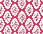 Riley Blake Designs Fabric - Wiltshire Daisy in Red by Carina Gardner C4332