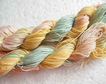 "Size 40 ""Color Twist"" hand dyed thread 6 cord cordonnet tatting crochet cotton"