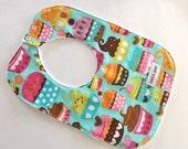Toddler Bib - Baby Girl - Toddler - Baby Shower Gift - Cupcakes - Cupcake Bib