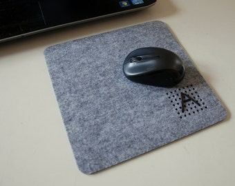 Monogram Mouse Pad, Custom Made, with Initial.