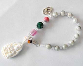 Heart chakra Kuan Yin meditation beads