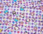 "Sanrio Character fabric 50 cm by 106   cm or 19.6"" by 42"" Half meter"