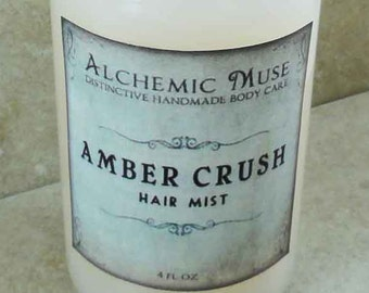 Amber Crush - Hair Mist - Detangler & Styling Primer - Amber Resins, Patchouli, Bourbon Vanilla