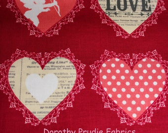 Clearance FABRIC Valentine's Day LOST and FOUND Love Hearts by Riley Blake 1/2 yard