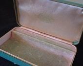 Jewelry Box Fashioned by Farrington/Genuine TEXTOL/Small Jewelry Storage Box