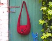 """Knitting Pattern Felt Shoulder Bag """"Bridget"""""""