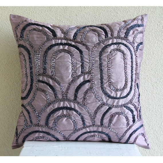 Purple Silk Throw Pillows : thehomecentric - Decorative Throw Pillow Covers Accent Pillows Couch Sofa Bed Pillows 26x26 ...
