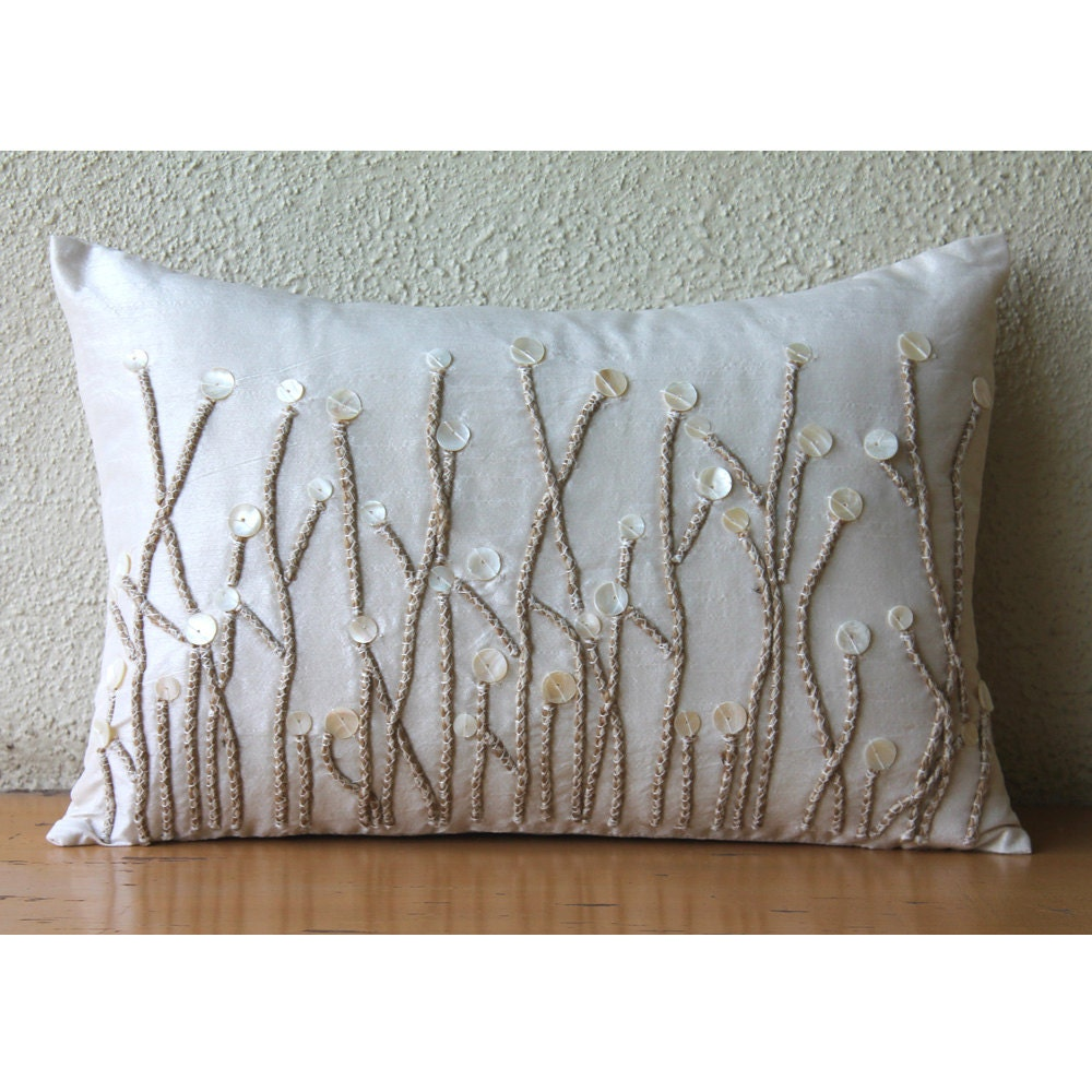 Decorative oblong lumbar throw pillow covers accent pillows for Decorative bed pillow case