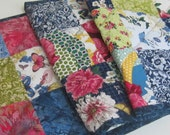 Handmade Quilted Tablerunner Floral and Batiks