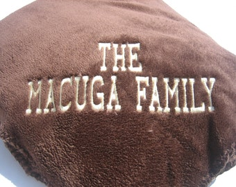 Plush Personalized Cuddle Blanket