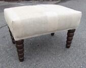 TEASTAIN TARP repurposed industrial tarps patchwork- ottoman/tuffet/bench/seating furniture