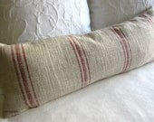 FRENCH LAUNDRY 12x36 long Pillow Cover in RED Stripes