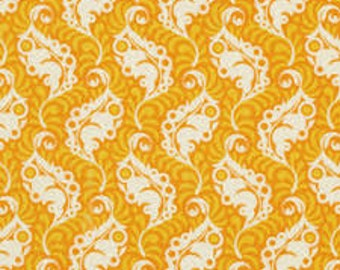 Featherleaf in Tangerine for the Lottie Da Collection by Heather Bailey