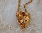 ON SALE Bee Mine  HEART Pendant
