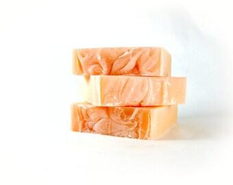 Hawaiian Flower Scented Soap, Cold Process Soap, Handmade Soap, Bar Soap, Phthalate Free Fragrance, Puakenikeni Flower Soap, Palm Oil Free