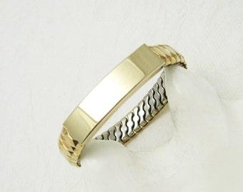 Vintage Speidel Photo ID Bracelet Expansion Original Box Fifties Jewelry B6510