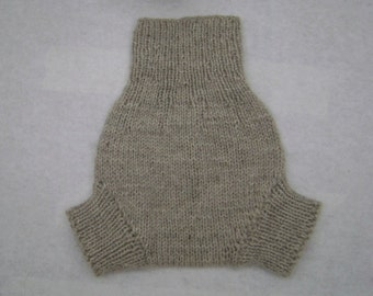 Large Natural Grey/Off White - All Natural Wool Diaper Soaker