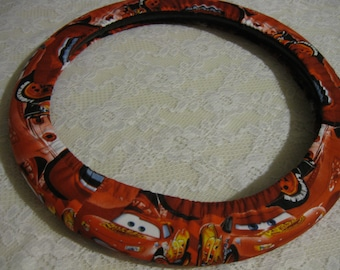 Disney Pixar Cars * Steering Wheel Cover * Seat Belt * Lightening McQueen