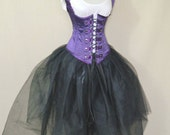 """Military Steampunk Royal Purple Corset-to fit 23-25"""" natural waist"""