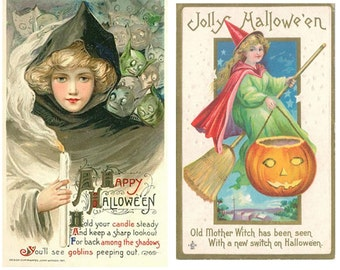Digital Halloween Collage, Victorian Ladies Collage, Instant Download and Print, Scrapbooking, Card Making Digital Collage, Holiday Collage