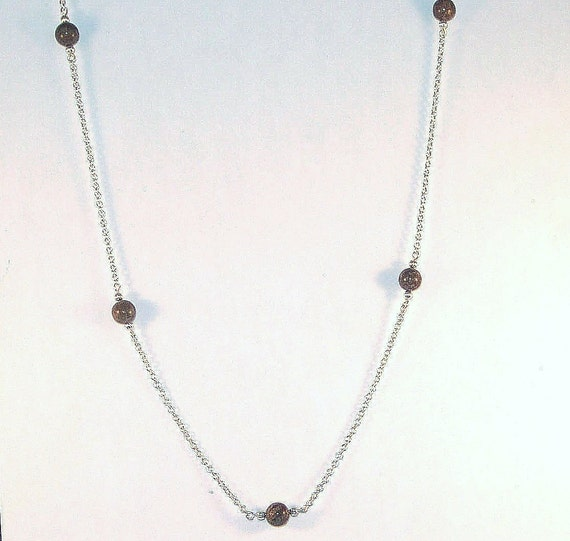 Gemstone Jewelry - Snowflake Jasper Necklace - Silver