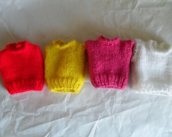 HandKnit Pullover Sweater for Barbie Dolls Clothes Your choice of Colors
