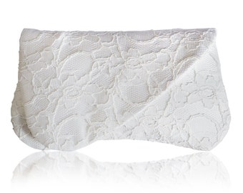 Ivory lace bridal Arden clutch purse