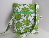 Pot Leaf Crossbody Bag - Cannabis Bag - Colorado Legal Cannabis zip bag