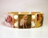 YELLOW LABRADOR RETRIEVER Bracelet / Scrabble / Lab Handmade Jewelry / Unusual Gifts