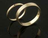 Special Seasonal Best Seller Hand Forged Recycled Gold Wedding Rings Black Diamond Handmade in Portland, OR