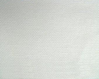Organic Duck Canvas Cotton Fabric OFF WHITE Cream For Apparel Home Decor Upholstery Slipcovers Crafting