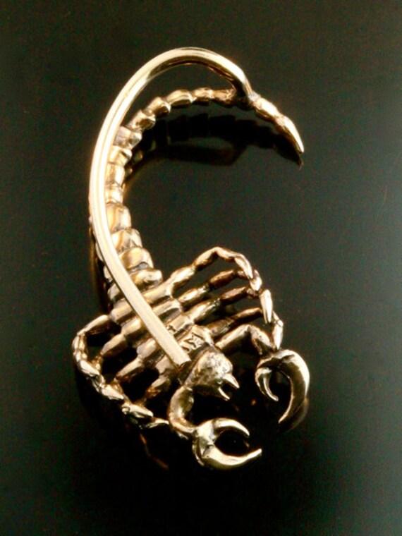 Scorpion Ear Wrap Bronze Scorpion Ear Cuff Scorpion By