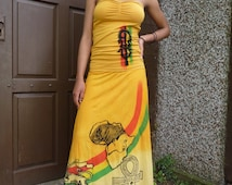 Rasta  Ethiopia Lion of Judah blessings skirt and top size Rasta clothing handmade one of a kind