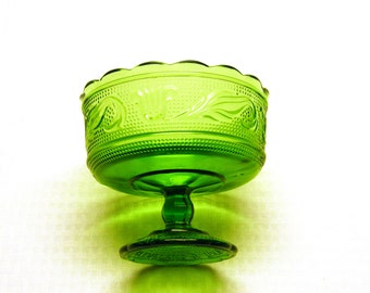 Green Pedestal Bowl