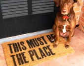 This Must Be The Place, Hand Painted Doormat
