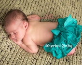Sassy Pants Ruffle Diaper Cover Panty Teal Blue / Green / Peacock