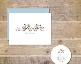 Baby Thank You Cards . Baby Shower Thank You Cards . Baby Shower Thank You Notes . Baby Thank You Notes - Bike Team