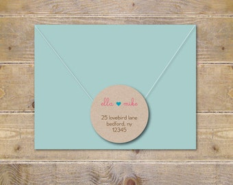 Address Labels . Return Address Labels . Recycled Address Labels . Wedding Invite Address Label . Save The Date . Bridal Shower - So In Love